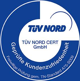 TÜV Nord Geprüfte Kundenzufriedenheit